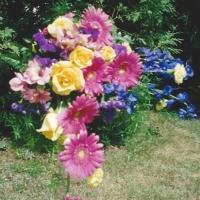 A Summery Mix Bridal Bouquet
