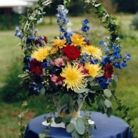 Summer Basket Wedding Centerpiece