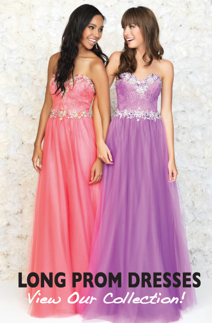 Long prom dress at Christine's Bridal & Prom. Serving all of Vermont and New Hampshire- the area's largest collection of long prom dresses and plus size prom dresses.