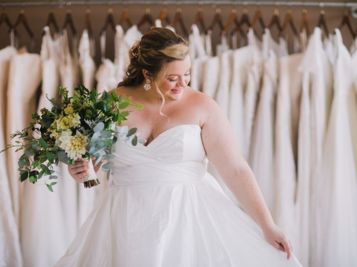 Selection-of-plus-size-wedding-dresses-at-Christine's-Bridal-in-Vermont