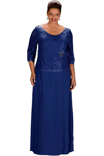 3/4-sleeve-plus-size-formal-gown
