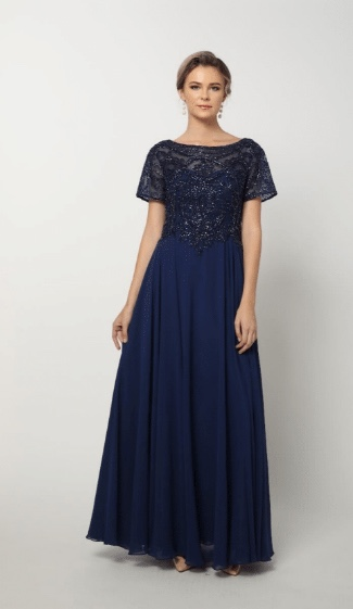Plus-size-formal-gowns-with-short-sleeves